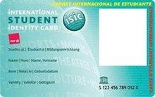Internationaler Studierenden-Ausweis ISIC