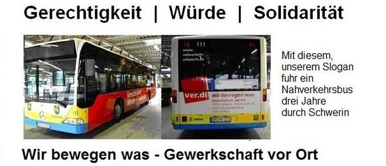 NVS Busse mit ver.di-Werbung