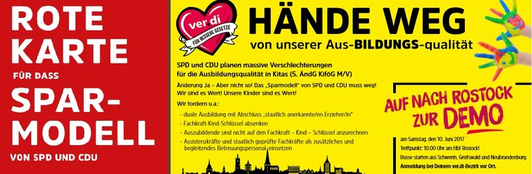 Hände weg - Demoaufruf 10.6.17 in Rostock