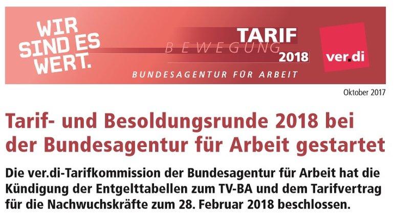 Auftakt- Tarifrunde BA 2018