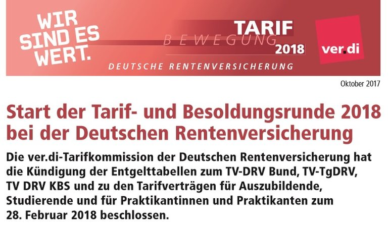 Auftakt- Tarifrunde DRV 2018