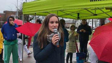Aktive Mittagspause - Annika Kuchmetzki, ver.di-Jugend Schwerin