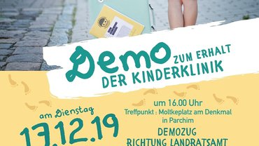 Demo für die Kinderklinik